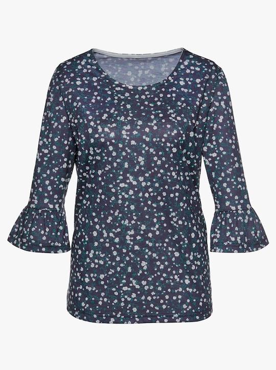 Shirt - nachtblauw geprint