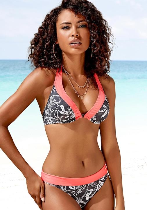 Sunseeker Bügel-Bikini-Top - schwarz-weiß
