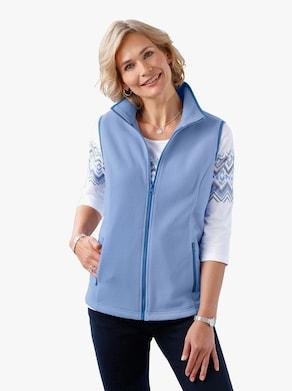 Fleecová vesta - modrá