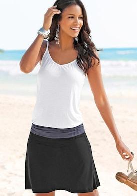Beachtime Strandkleid - schwarz-grau