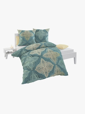 Bettwäsche - blau-goldfarben