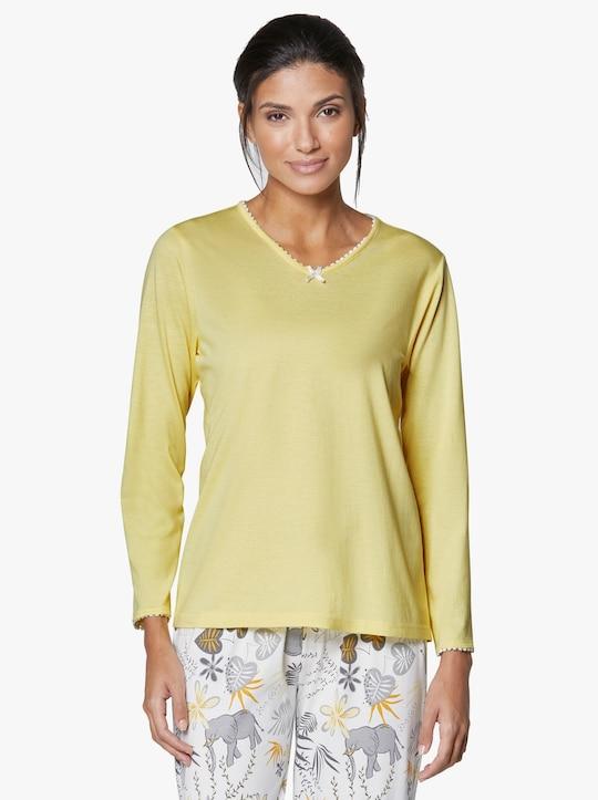 wäschepur Schlafanzug-Shirt - zitrone