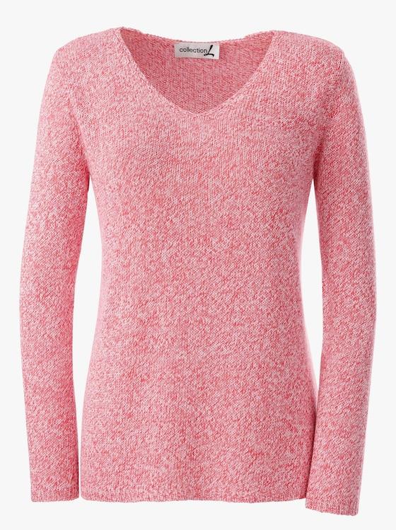Pullover - koralle-meliert