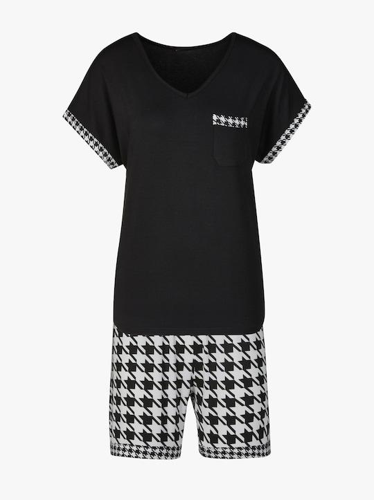 wäschepur Shorty - schwarz-weiß