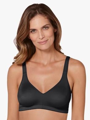 Naturana Komfort-BH ohne Bügel - weiß + schwarz