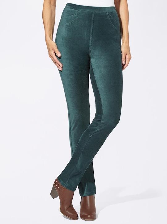 Jersey-Hose - tannengrün