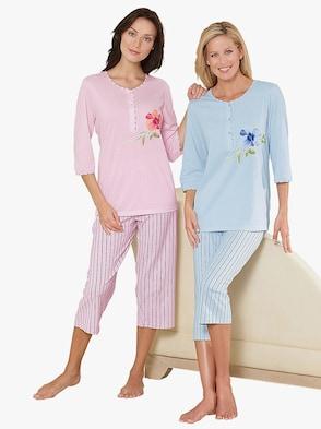 Pyjamasar - ljusrosa + blekblå