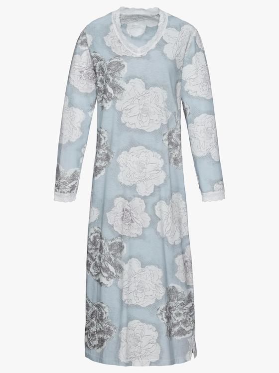 wäschepur Nachthemd - aqua-bedruckt