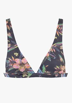 LASCANA Triangel-Bikini-Top - anthrazit-bedruckt