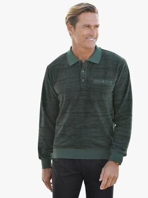 Poloshirt met lange mouwen - groen
