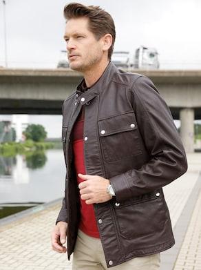 Marco Donati Leder-Jacke - braun