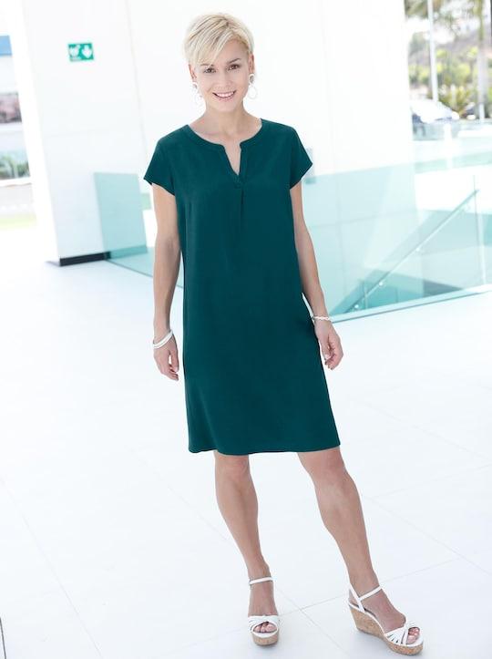 Tunika-Kleid - dunkelgrün