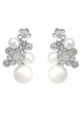 Firetti Paar oorstekers - zilverkleur/wit