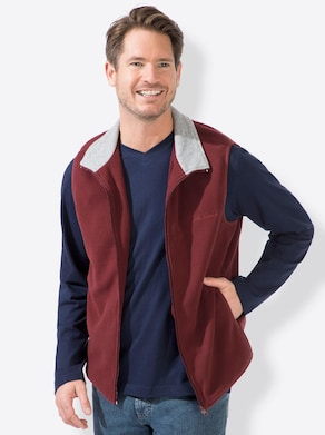 Fleece-Weste - bordeaux