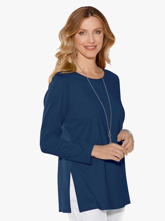 Dlouhé tričko - námořnická modrá