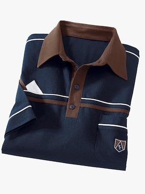 Poloshirt - marine-braun