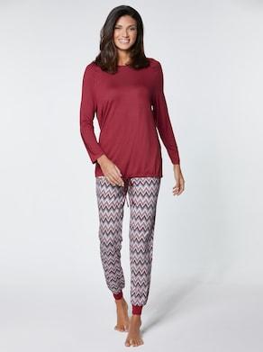 wäschepur Schlafanzug - kirsche-gemustert
