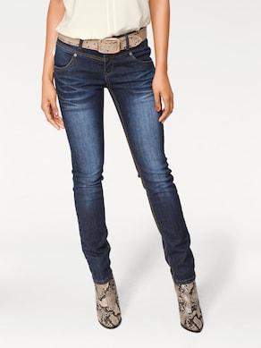 Linea Tesini Skinny-Jeans - blue denim