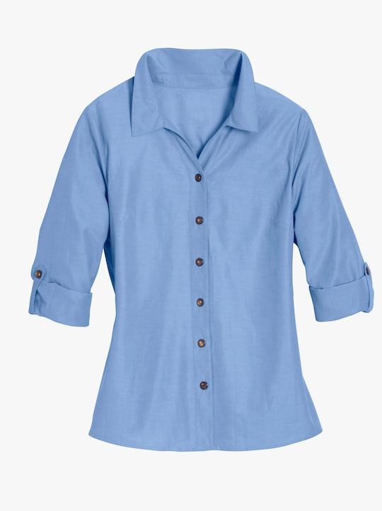 Blouse - hemelsblauw