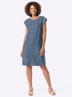 Collection L Kleid - blue-stone-washed