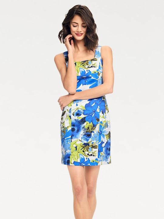 Ashley Brooke Jurk met print - blauw/groen
