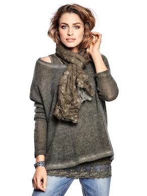 Linea Tesini Rundhals-Shirts - khaki