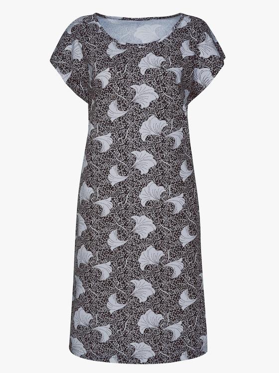 Jersey-Kleid - schwarz-gemustert