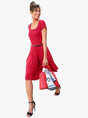 Jersey-Kleid - rot