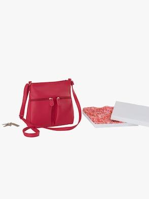 Handtasche + Tuch - rot