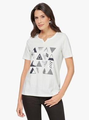 Kurzarm-Shirt - ecru