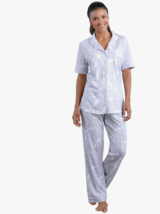 pastunette Pyjama - hellgrau-gemustert