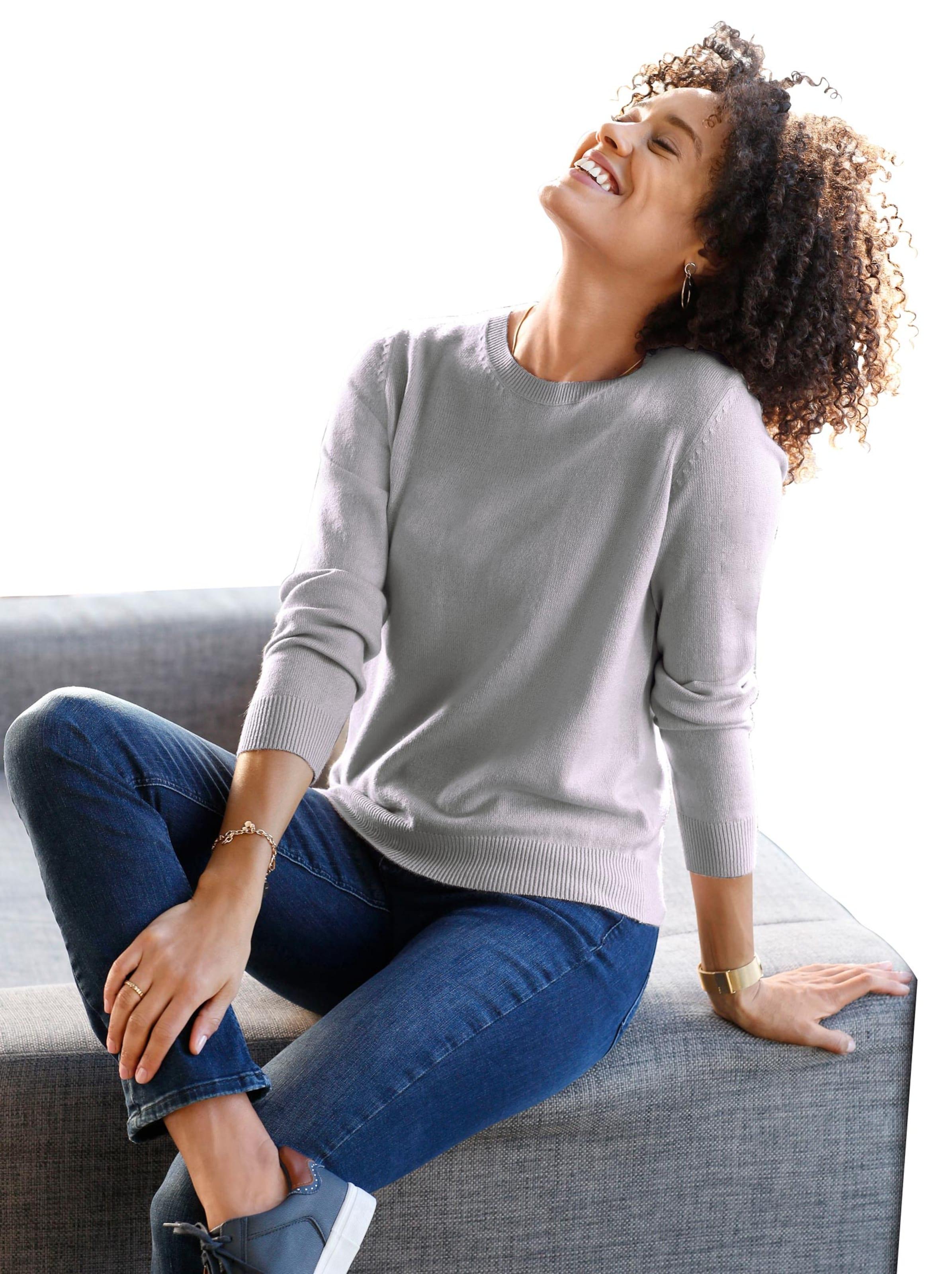 witt weiden -  Damen Pullover grau-meliert