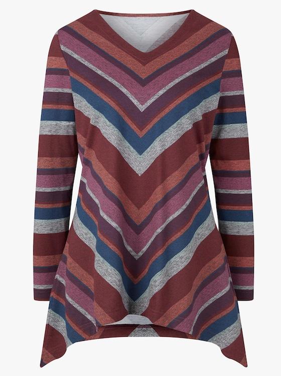 Shirt - rood/blauw gestreept