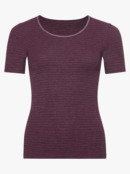 conta Shirt - bordeaux-geringelt