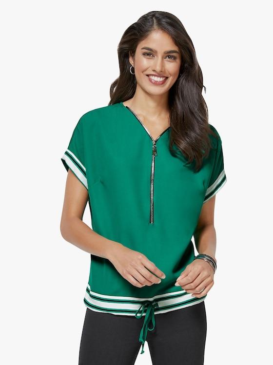 Bluse - smaragdgrün