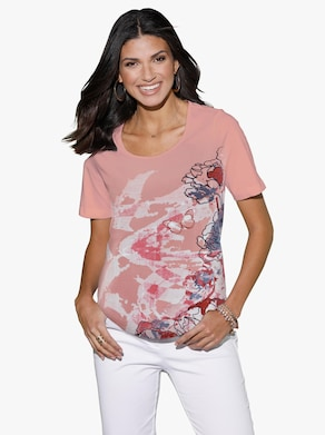 Shirt - rosenholz-gemustert