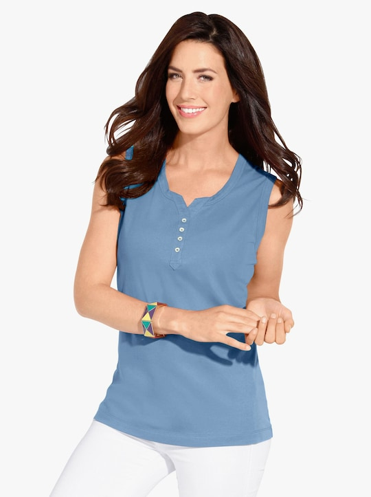 Shirttop - lichtblauw
