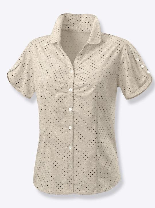 Bluse - beige-getupft