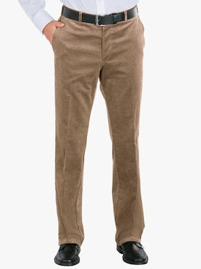 Ribcord broek - beige