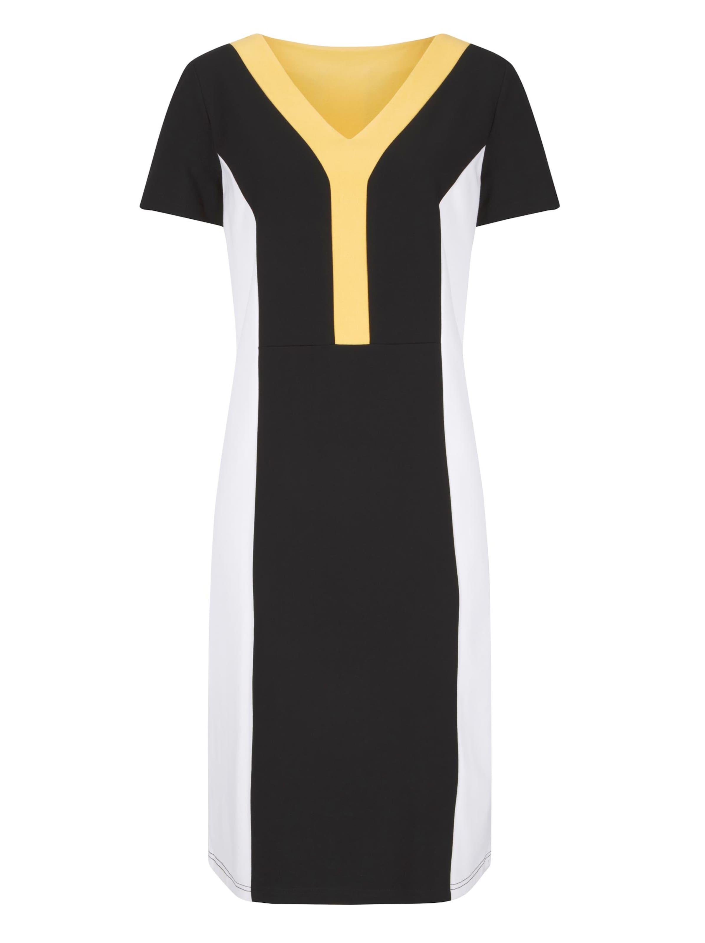 witt weiden -  Damen Jersey-Kleid schwarz-gelb