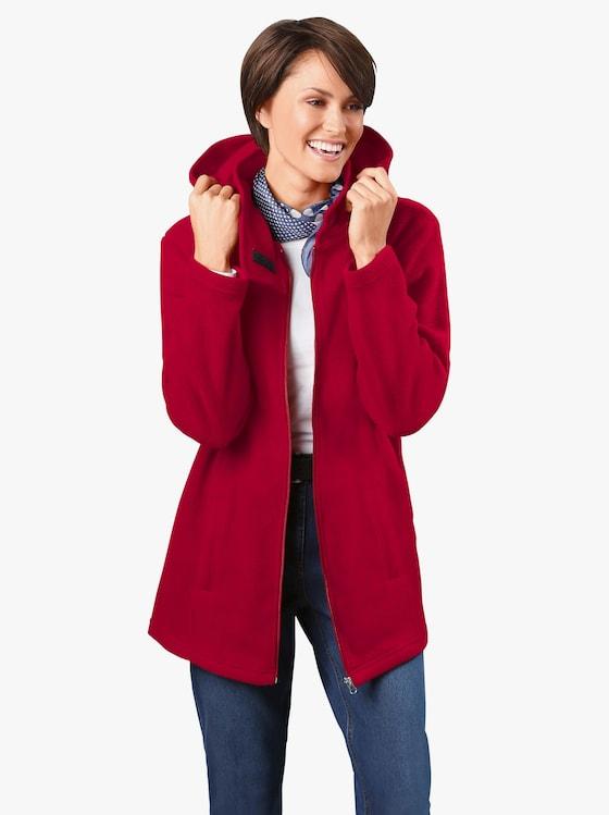 Fleecová bunda - červená