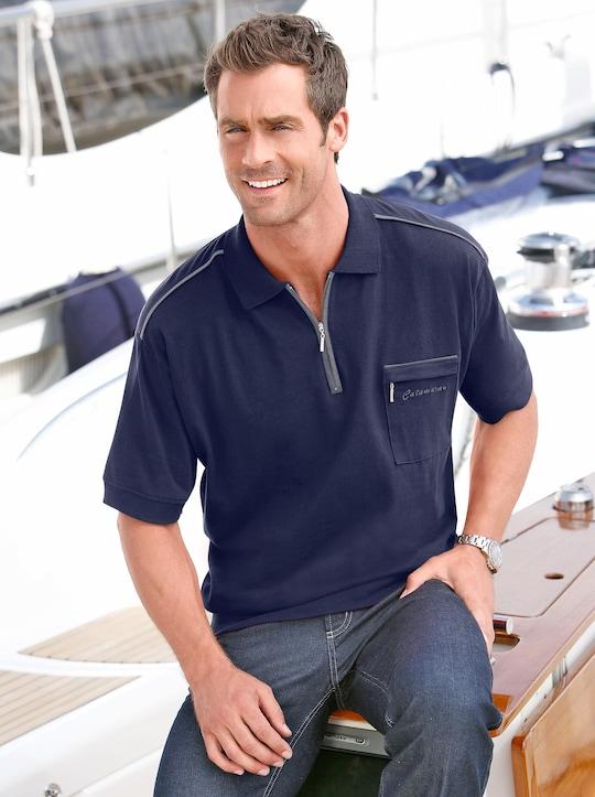 Catamaran Kurzarm-Poloshirt - marine