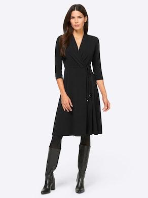 Ashley Brooke Jersey-Kleid - schwarz