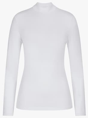 Langarm-Shirt - weiß