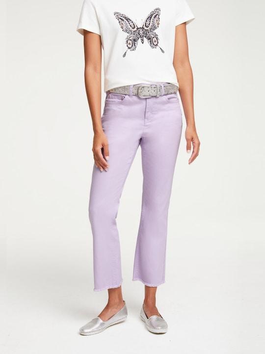 Linea Tesini Push-up-Jeans - flieder