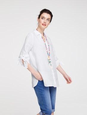 Linea Tesini Bluse - weiß