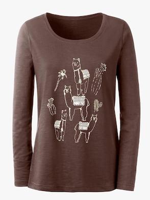 Shirt - braun-goldfarben