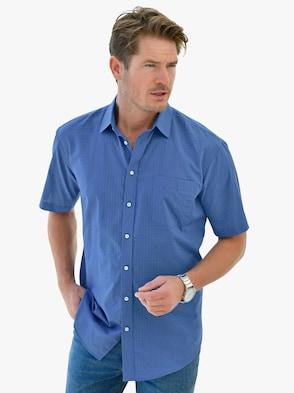 Kurzarm-Hemd - blau
