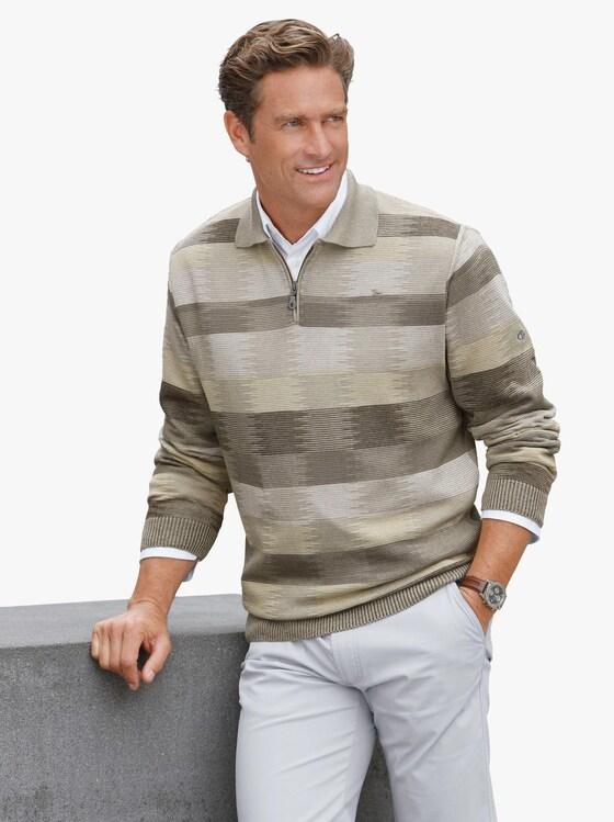 Pullover - schilf-khaki