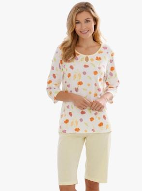 Pyžamo - žltá potlač